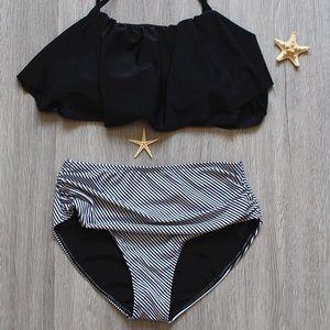 Other - Black high waisted bikini set sw126