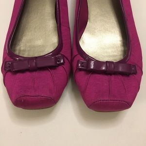 Modcloth Shoes - Fuchsia Flats With PVC Trim And Bow Detail