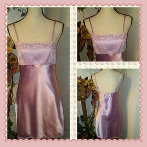 Cabernet Other - Cabernet Lavender Satin Night Gown