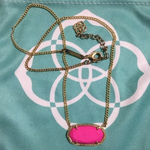 Kendra Scott Jewelry - Kendra Scott Dylan Oval Necklace In Magenta Pink