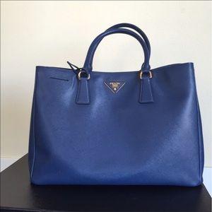 Prada Handbags - Prada Saffiano Lux Tote Large, Royal Blue