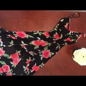 High Low and ruffles Floral  Dress Size M