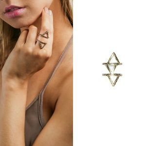 Jewelry - Gold Double Triangle Ring