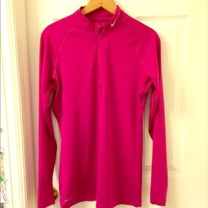 Nike Pro Pink Dri-fit 1/2 Zip Pullover