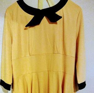 Acevog Dresses & Skirts - Women's 1950s 3/4 Sleeve Bowknot Vintage dress