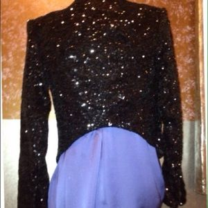 AKIRA Jackets & Blazers - Akita black label crop sequin blazer jacket small