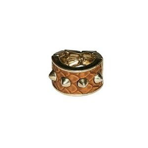 Jewelry - Snakeskin Spiked Ring In Tan