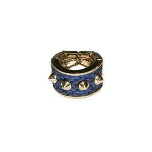 Jewelry - Snakeskin Spiked Ring In Blue