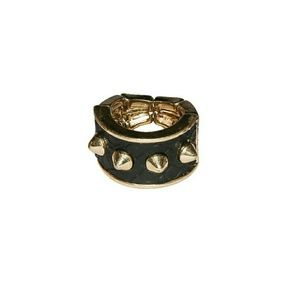 Jewelry - Snakeskin Spiked Ring In Black