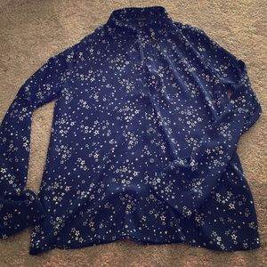 primark Tops - Primark button down blue shirt with stars