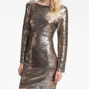 Jessica Simpson Sequin Dress Grey Satellite Falcon