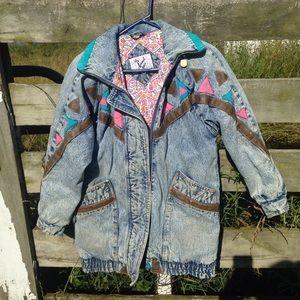 Vintage Jackets & Blazers - Bad@$$ 80s/90s vintage jean jacket