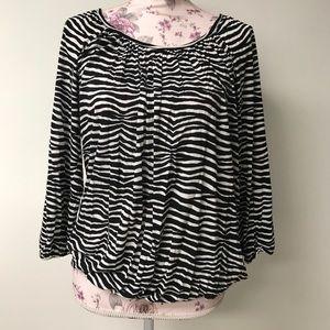MK Zebra striped top