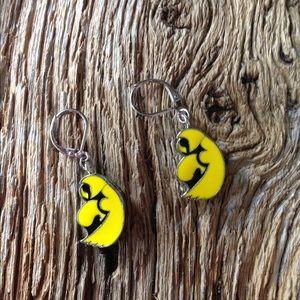 Jewelry - Iowa Hawkeyes earrings, Iowa gold and black
