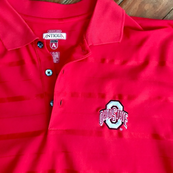 Antigua men 39 s ohio state golf polo size l from lauren for Ohio state golf shirt