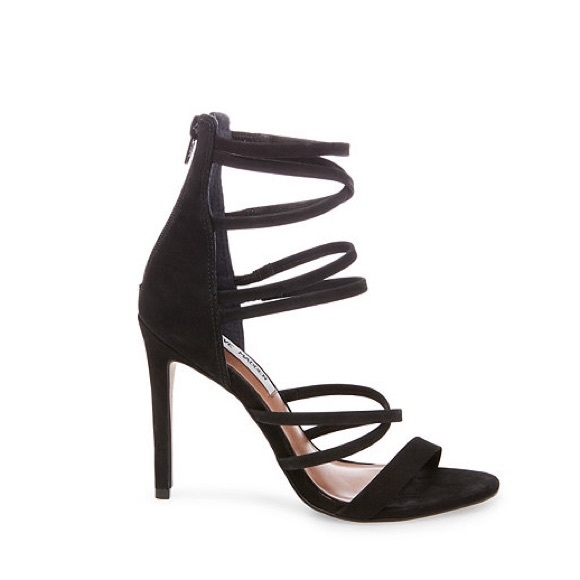 bff7a7fe4fc Steve Madden Tierney Black Strappy Heels - Size 6.  M 594e97a2bcd4a7550300ac47