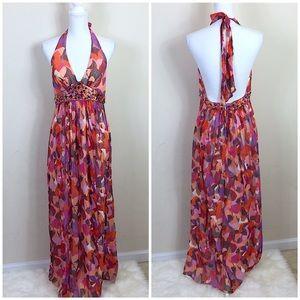 BCBGMaxAzria Dresses & Skirts - {BCBGMAXAZRIA} Jeweled Halter Maxi Dress