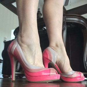 Delicious Shoes - Delicious 3 Toned Pink Heels 6.5