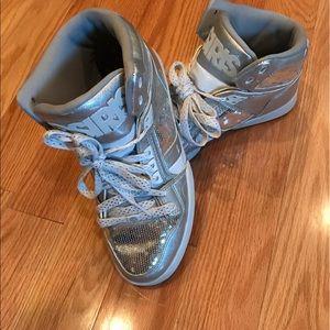 Osiris Shoes - Osiris Sequin silver high top sneakers