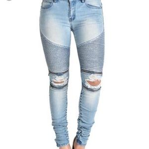 American Bazi Denim - American Bazi Moto Jeans NWOT