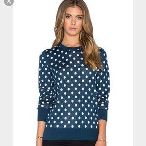 Equipment Shane polka-dot intarsia-knit sweater