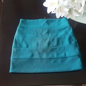 Foreign Exchange Dresses & Skirts - Foreign Echange Turquoise Mini Skirt