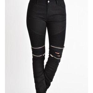 American Bazi Denim - NWOT American Bazi Moto Jeans