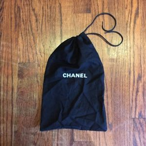 CHANEL Other - Chanel Black w/ White Letters Dust Bag