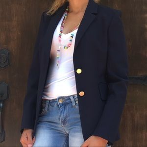 Theory Navy Blue blazer- Black Fitted size 2