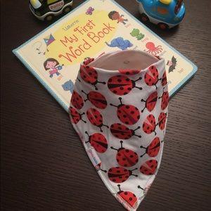 Other - Red ladybug bandana bib