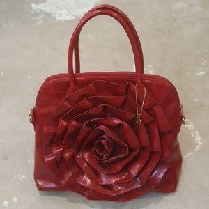 Big Buddha Handbags - Big Buddha Red Flower Crossbody Tote Bag