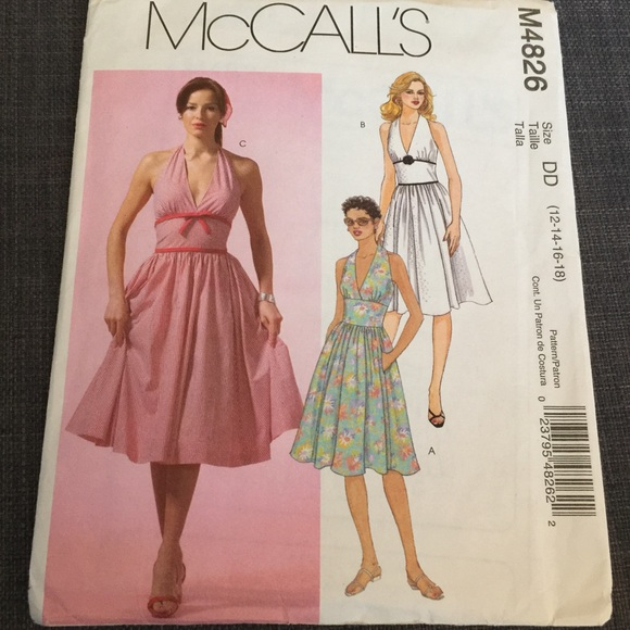 McCalls Retro Plus Rockabilly Halter Dress Pattern Boutique