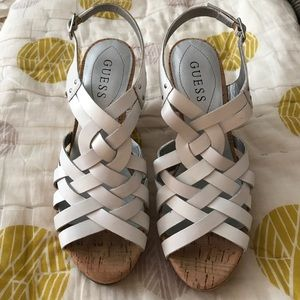 Guess Shoes - Guess White Wedges