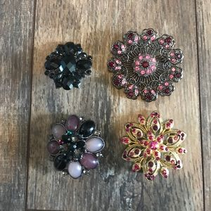 Jewelry - Set of 4 Sparkly Pins