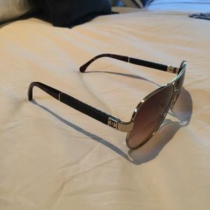CHANEL Accessories - Authentic Chanel aviators w quilted sides