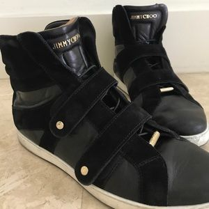 Jimmy Choo Shoes - ⭐️ Jimmy Choo leather and suede high top sneakers