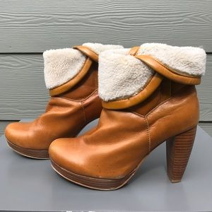 Charlotte Ronson Shoes - Charlotte Ronson Shearling Camel High Heel Boots
