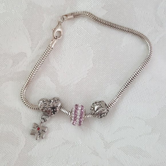 825d5220d Persona Jewelry | Sterling Silver Charm Bracelet Fits Pandora Beads ...