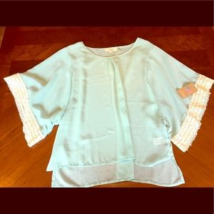 American Threads Tops - NEW American Threads: Stylish Mint Blouse