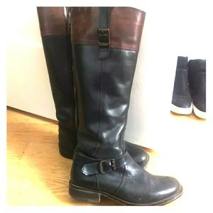 Brown and black wolverine riding boots - size 6.5