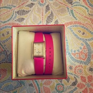 Double leather band Kate Spade watch 💖