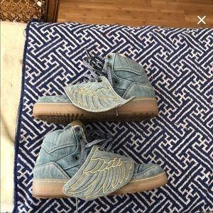 Jeremy Scott x Adidas Shoes - Jeremy Scott x Adidas Denim Wings