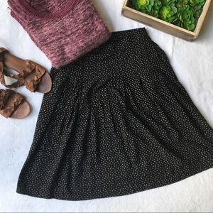 Vintage pleated high waisted triangle print skirt