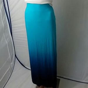 a.n.a Dresses & Skirts - Blue Aqua Turquoise Dip Dye Women's Medium Skirt