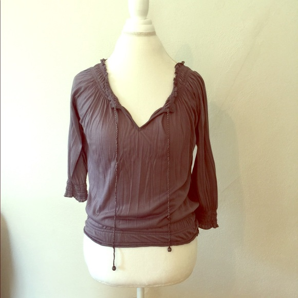 Body Central Tops Charcoal Grey Blouse Poshmark