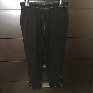 Helmut Lang Pants - Helmet Lang crop zip pants