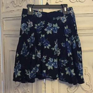 LC Lauren Conrad Skirts - LC Lauren Conrad Blue Floral Skirt