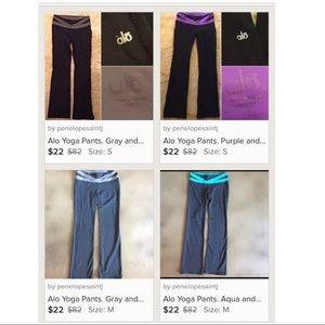 ALO Yoga Pants - 4 pairs of Alo Yoga pants. Size: M, S