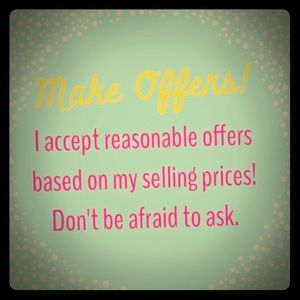 💕My items for sale are always negotiable! 💕