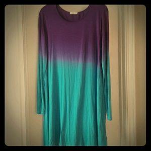 12 Pm By Mon Ami Dresses & Skirts - Dip-dye cotton dress